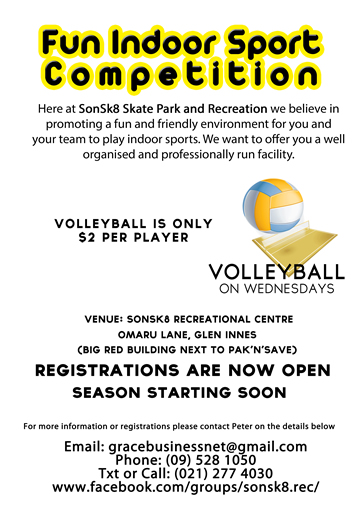 sport poster - volleyball